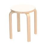 Aalto stool E60, white laminate