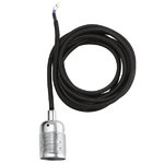 Frama E27 cord, steel-black
