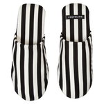 Tasaraita slippers, white - black