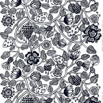Tiara fabric, black-white
