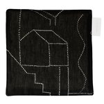 Unien talo pot holder/trivet, black