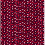 Mini Unikko fabric, red - purple - pink
