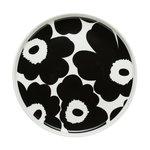 Marimekko Oiva - Unikko plate 20 cm, white - black