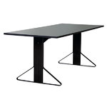 REB 001 Kaari table, grey lino / black oak