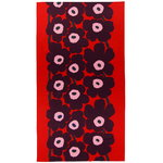 Unikko tablecloth 155 x 280 cm, red - purple - pink
