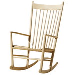 J16 rocking chair, lacquered oak