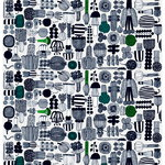 Puutarhurin pPrhaat fabric, black-green