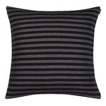 Tasaraita cushion cover, black - grey