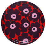 Pieni Unikko tray, red - purple - pink