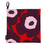 Pieni Unikko pot holder, red - purple - pink