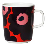 Oiva - Unikko mug 4 dl, red - purple - pink