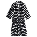 Räsymatto bathrobe, black-white