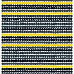 Räsymatto fabric, black-yellow