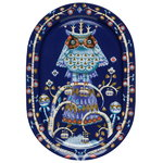 Taika serving plate 41 cm, blue