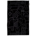 Unien talo tea towel/placemat, black