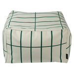 Tiiliskivi seat cover for Puffi pouf, beige - dark green
