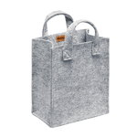 Meno home bag small, grey felt
