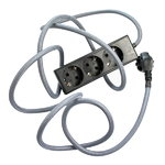 Nud Extend 3-way extension cord, dark grey