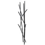 Latva wall coatrack, black