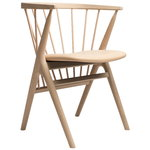 No 8 chair, soaped oak - honey leather