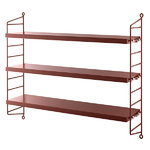 String Pocket shelf, burgundy