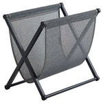 Magazine rack, black oak - graphite