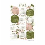 Kauniste Calendar poster 2021, pink