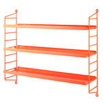 String Pocket shelf, metal, neon