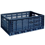 Colour crate, L, navy blue