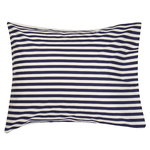 Marimekko Tasaraita pillowcase, off-white - dark blue