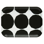 Kivet tray, ecru - dark green