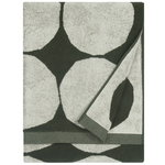 Kivet bath towel, ecru - dark green