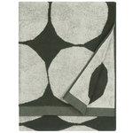Kivet kylpypyyhe, luonnonvalkoinen - tummanvihreä