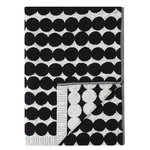 Marimekko Räsymatto bath towel, black-white
