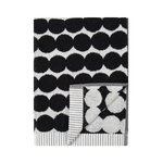 Räsymatto hand towel, black-white