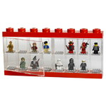 Lego display case, large, red