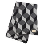 Ferm Living Squares blanket, black