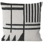 Kelim cushion, Black Lines