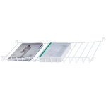 String magazine shelf, white steel