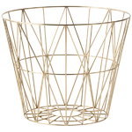 Wire basket, brass, large