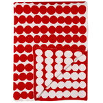 R�symatto blanket, red-white