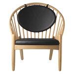 FDB Møbler J166 Jørna armchair, oak - black leather