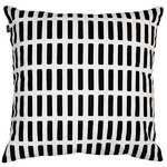 Siena cushion cover 50 x 50 cm, black-white