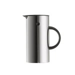 EM Press coffee maker, stainless steel
