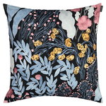 Marimekko Louhi tyynynpäällinen 50 x 50 cm, musta - sininen - punainen