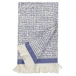 Orkanen Hamam bath towel, off white - blue