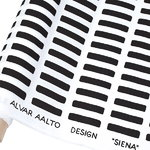 Siena canvas cotton fabric 150 x 300cm, white-black