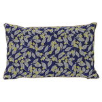 Salon cushion, 40 x 25 cm, Flower, blue