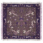 Rabbit throw, purple