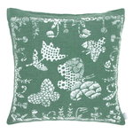 Aamos cushion cover 45 x 45 cm, white - aspen green